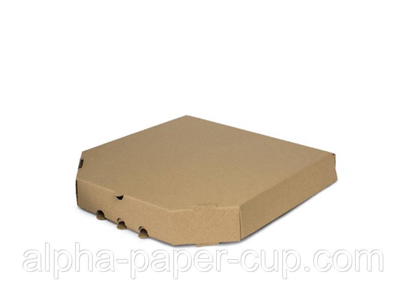 Коробка для пиццы бурая 350*350*42, 100 шт/уп, 30 уп/палет.