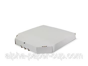 Коробка для пиццы белая 500*500*40, 50 шт/уп, 50 уп/палет.