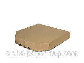 Коробка для пиццы бурая 500*500*40, 50 шт/уп, 50 уп/палет.