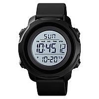 Skmei 1540 чорні з білим циферблатом чоловічі спортивні годинник, фото 1