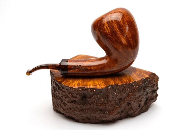 Необычная трубка для курения Freehand Bent из бриара высокого качества с акриловым мундштуком