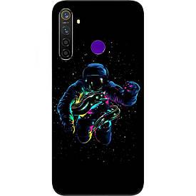 Чехол силиконовый с картинкой для Realme 5 Pro В космосе