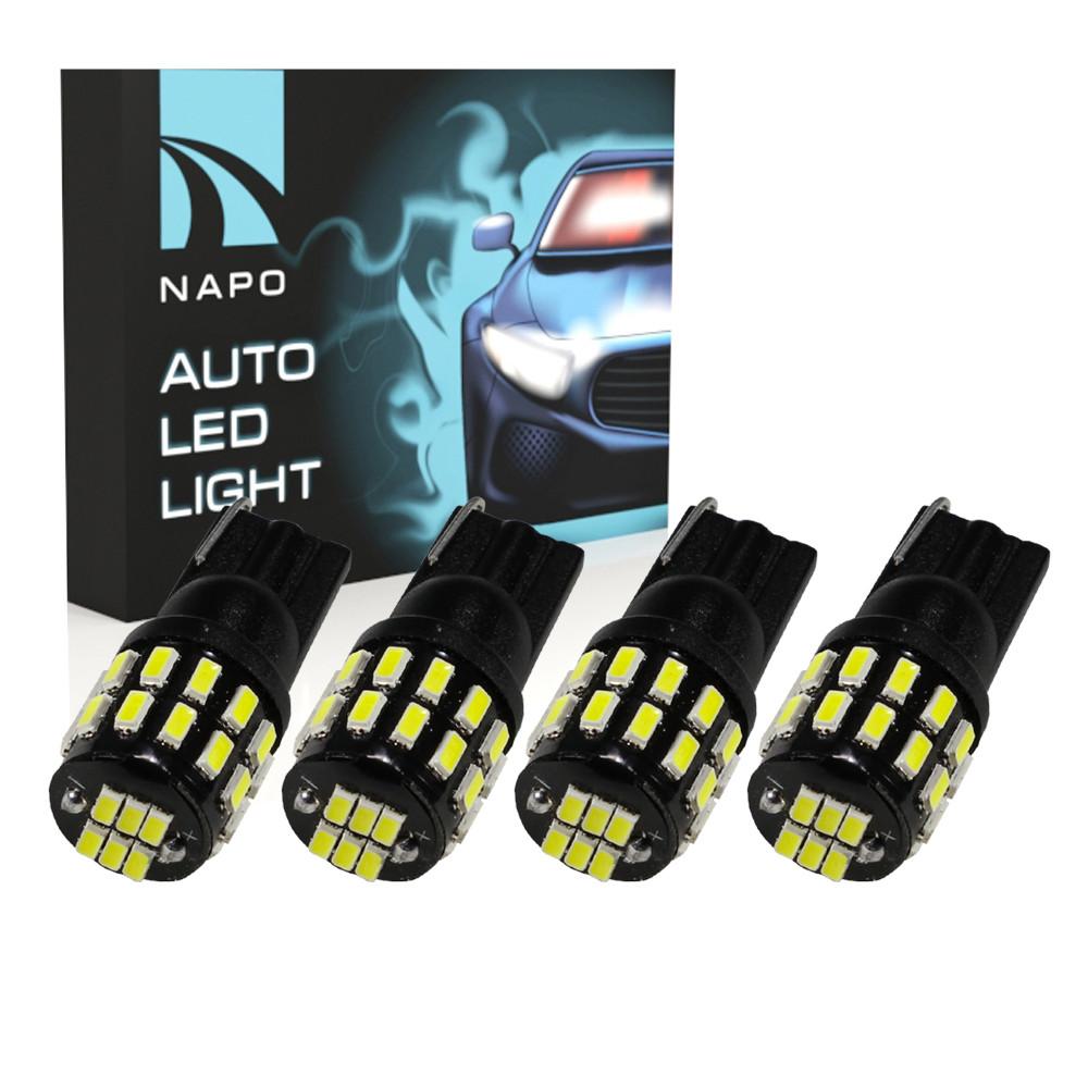 Лампа автомобильная LED T10-3014-36smd.10365 W5W T10 комплект 4 шт цвет свечения белый