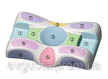 Ортопедична подушка Beauty Balance від зморшок сну і ранкової набряклості (MEMORY FOAM). так, морквяний