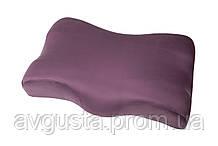 Ортопедична подушка Beauty Balance від зморшок сну і ранкової набряклості (MEMORY FOAM). так, фіолетовий шовк