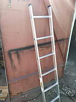 Алюминиевая односекционная приставная лестница на 11 ступеней, фото 2