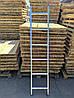 Алюминиевая односекционная приставная лестница на 11 ступеней, фото 5