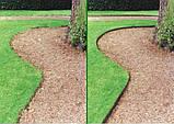 Декоративна бордюрна стрічка  для клумб Альта-Профіль розширена  0,5х150х9000 мм зелений від виробника, фото 3