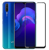 Защитное стекло 2.5D на весь экран (с клеем по всей поверхности) для Vivo Y15