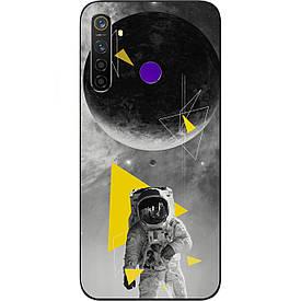 Чехол силиконовый с картинкой для Realme 5 Pro Астронавт