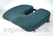 Ортопедична подушка для сидіння - Model-1, ТМ Correct Shape. Подушка від геморою, простатиту, подагри смарагдовий