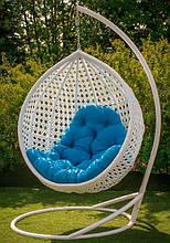 Підвісне садове крісло гойдалка кокон крапля куля плетене з ротанга Українські Конструкції Асоль / Asol