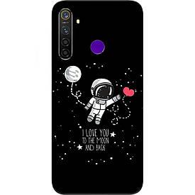 Чехол силиконовый с картинкой для Realme 5 Pro Любовь до луны