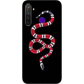 Чехол с картинкой силиконовый для Realme 5 Pro Змея