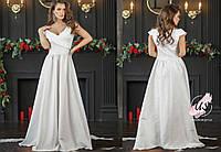 Жаккардовое вечернее платье в пол без рукавов с декольте. 3 цвета!