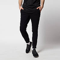 Спортивные штаны на манжетах Rain ТУР черно-белые с лампасами на резинке зауженные молодежные