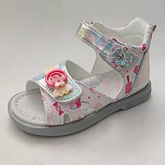 Детские босоножки сандалии сандали для девочек белые с красным tom.m 23р 14,5см