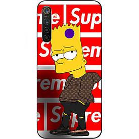 Чехол с картинкой силиконовый для Realme 5 Pro Барт Симпсон