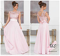 Длинное однотонное вечернее платье без рукавов. 3 цвета!