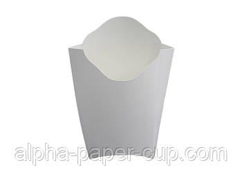 Упаковка фри Maxi белая, 50 шт/уп, 25 уп/ящ.
