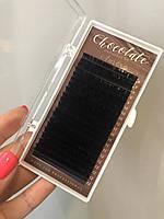 "Ресницы ""Dark Сhocolatte"" (горький шоколад) ""AURORA LASHES"",  микс, фото 1"