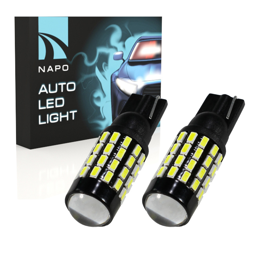 Лампа автомобильная LED T10-3014-54smd.t10-078 12-24V W5W T10 комплект 2 шт цвет свечения белый