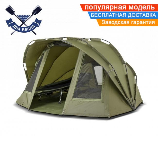 Двухместная палатка кемпинговая Bivvy 155х300х270см водостойкая палатка 2 в 1 с москитными сетками + ПВХ-пол