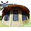 Двухместная палатка кемпинговая Bivvy 155х300х270см водостойкая палатка 2 в 1 с москитными сетками + ПВХ-пол, фото 7