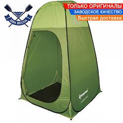 Кемпинговый тент для душа туалета или склада KingCamp 120х120х190 см, 2,5 кг, пол в комплекте, зеленый