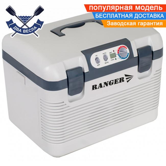 Портативний автохолодильник Ranger Iceberg 19L робота від електромережі 220V або прикурювача 12В, є підігрів