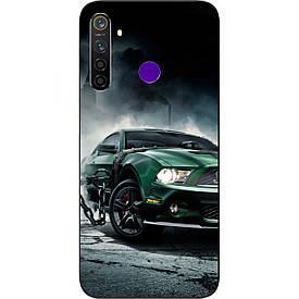 Чехол с картинкой силиконовый для Realme 5 Pro Мустанг
