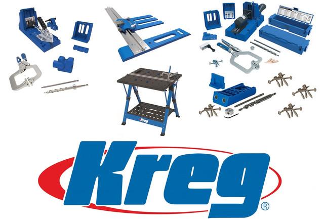 Профессиональные инструменты и приспособления для крепления, фиксации и монтажа KREG Tool (США)