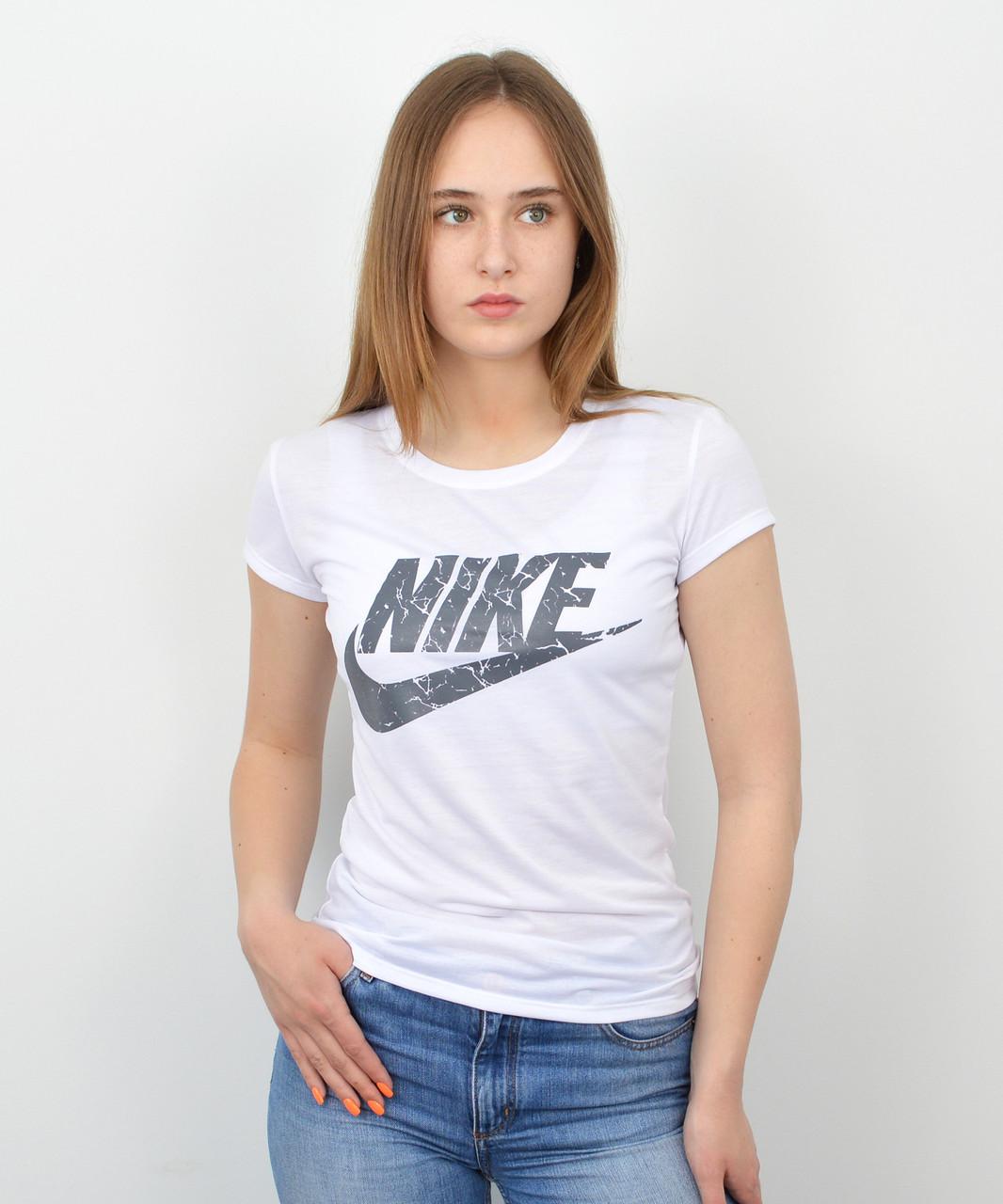 Женская футболка оптом спорт S0320 Белый