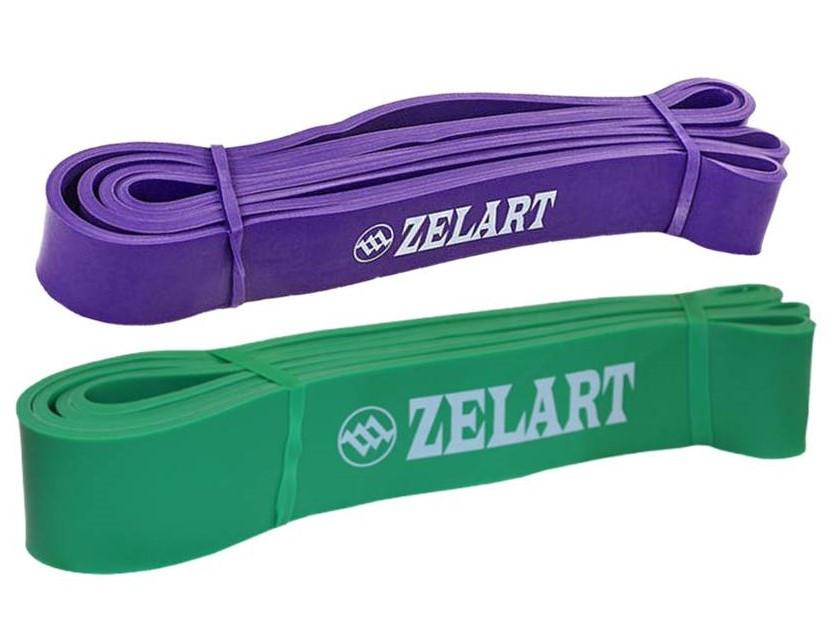 Набор эспандеров-петель Zelart POWER BANDS жесткость M-L 15-60 кг для подтягивания, турника, тренировок