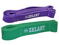 Набор эспандеров-петель Zelart POWER BANDS жесткость M-L 15-60 кг для подтягивания, турника, тренировок, фото 1