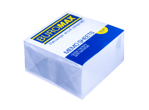 Блок белой бумаги для записей, 90х90х50 мм, склеенный