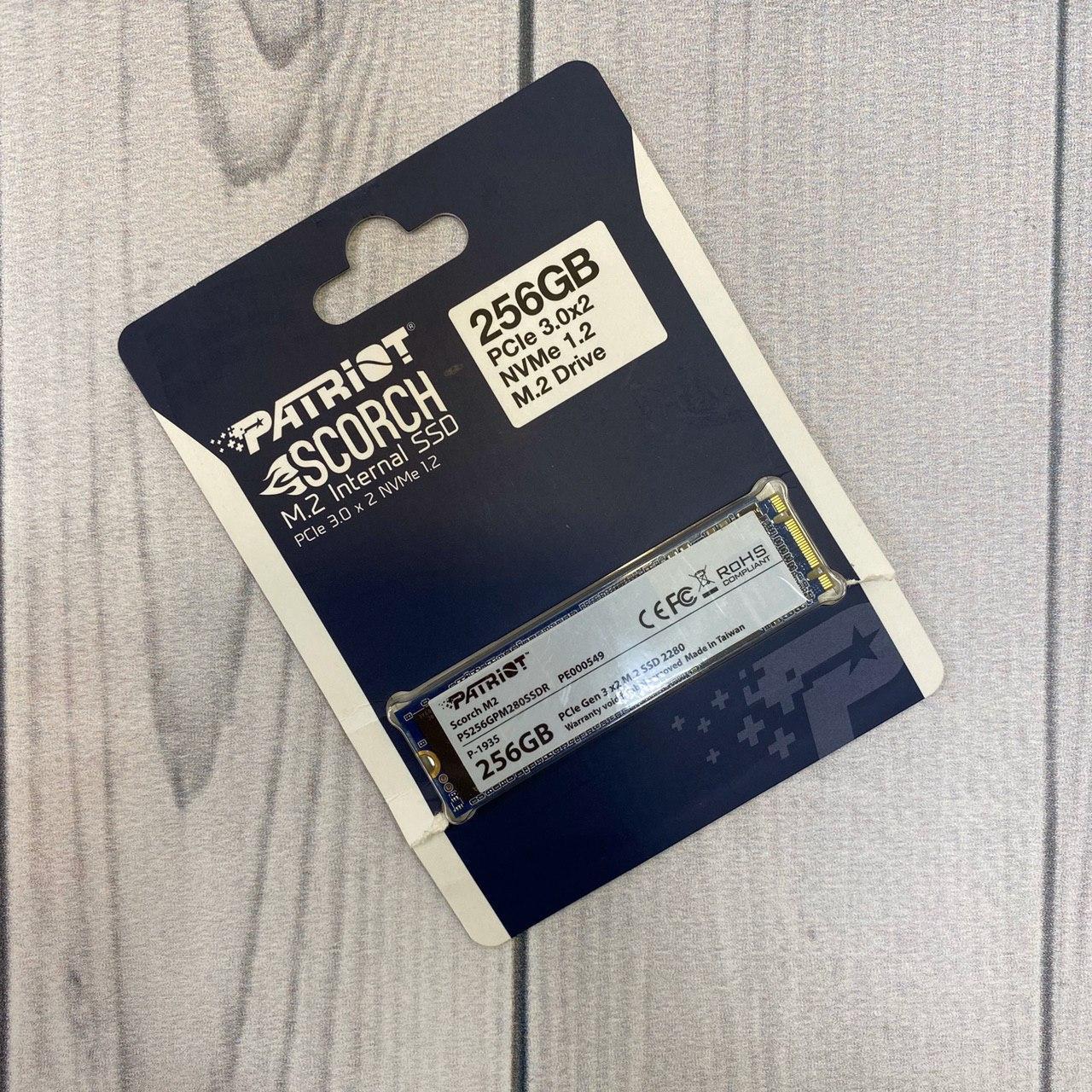 Твердотельный накопитель M.2 (256Gb/ Patriot  /PCI-E 4x/TLS/1700/1700/780MB/s)