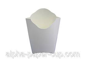 Упаковка фри Midi белая, 50 шт/уп, 30уп/ящ.