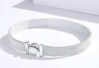 Браслет женский Reflexions серебряный в стиле Пандора подарок девушке / жене