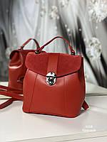 Женский рюкзак 4058 красный Рюкзаки женские оптом недорого Одесса 7 км, фото 1
