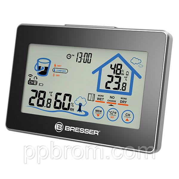 Термометр-гігрометр Bresser Funk (Touchscreen) - сенс. дисплеї н,. прогноз рівня комфорту, зовнішньої. датчик, min/max