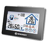 Термометр-гігрометр Bresser Funk (Touchscreen) - сенс. дисплеї н,. прогноз рівня комфорту, зовнішньої. датчик, min/max, фото 2