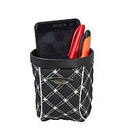 Держатель для смартфона и всяких мелочей в автомобиль, органайзер под канцтовары, сумка