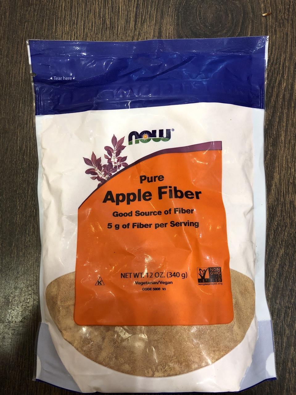 Чистий яблучна клітковина, Now Foods, Pure Apple Fiber, 340 грам