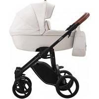 Детская универсальная коляска 2 в 1 Bebetto Luca PRO 01 (Эко кожа) Экрю