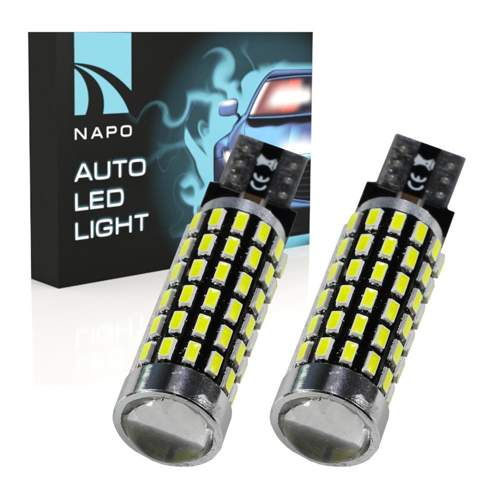 Лампа автомобильная LED T10-3014-78smd.10422 W5W T10 комплект 2 шт цвет свечения белый