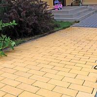 Плитка тротуарная. Кирпич стандарт ( с фаской и без) 6 см.