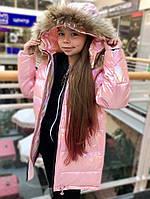 Детская куртка для девочки Верхняя одежда для девочек MAY JANEMON Китай 8955 Розовый