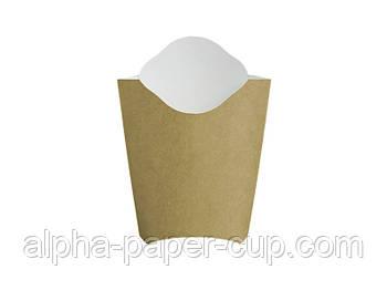 Упаковка фри Midi буро-белая, 50 шт/уп, 30 уп/ящ.