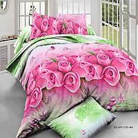"""Комплект постельного белья двуспальный из ткани ранфорс """"Розовые розы"""""""